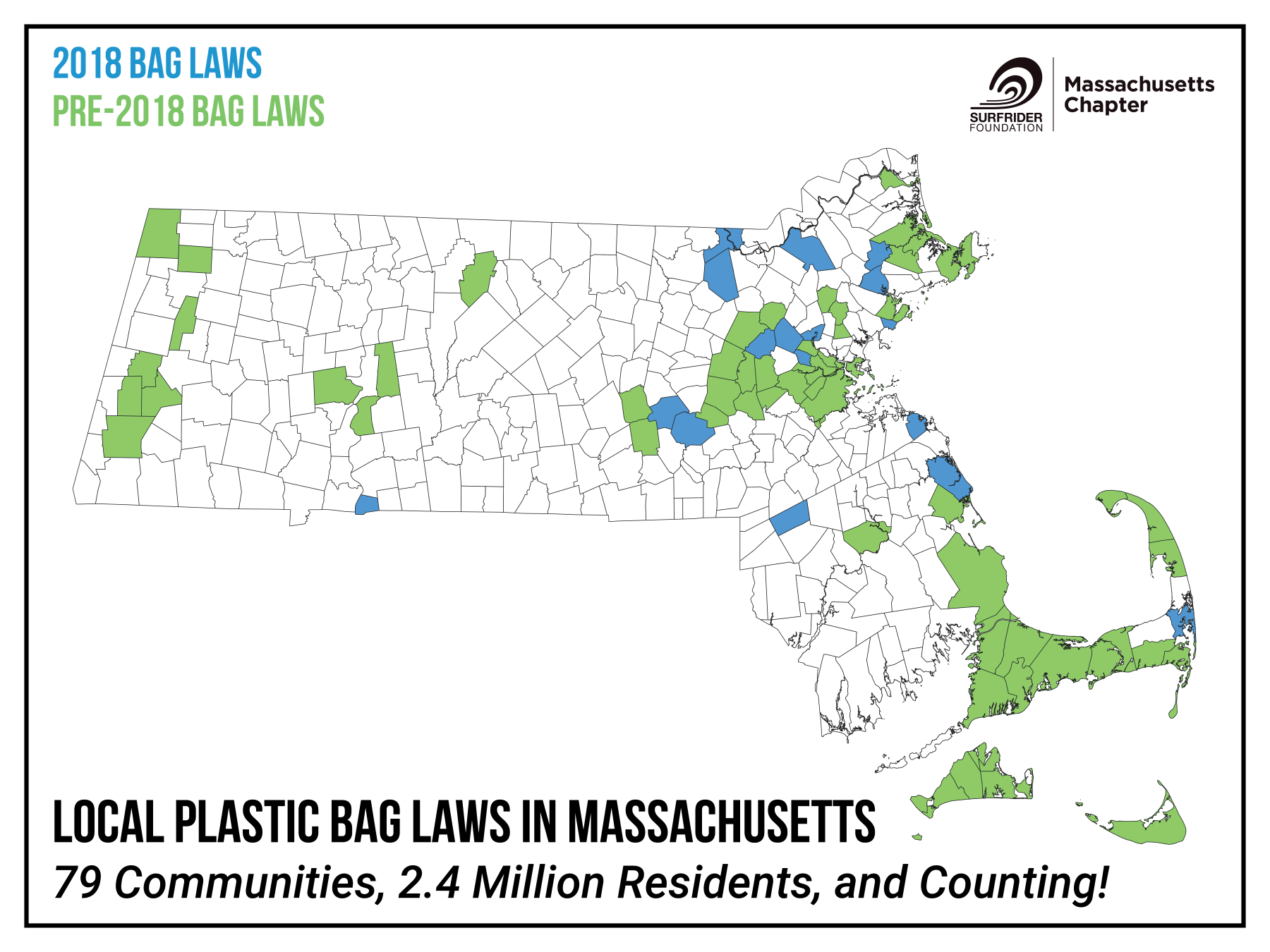 Towns in MA with Bag Bans